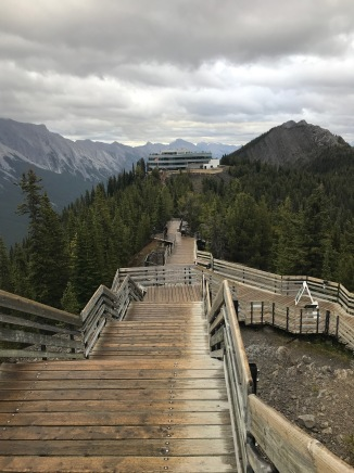 Stairs to an old cosmic ray observation site. Really!